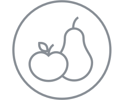 Apple and pear icon.